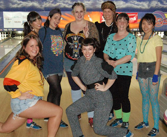 Community Therapists Bowl for Big Brothers 80s team